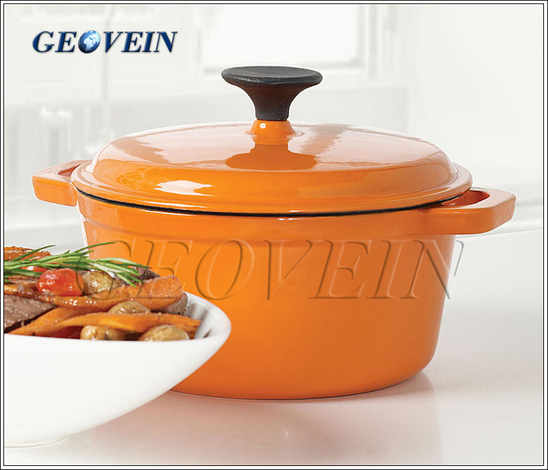 Colorful Enamal Coating Cast Iron Round Dutch Oven