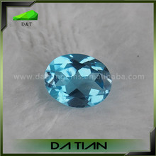 Good clarity oval shape lab created blue topaz price