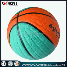 5 inches diameter customized rubber mini basketball