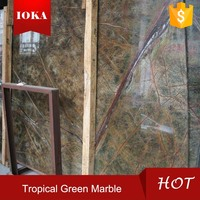 Rainforest Green Marble Stone Slab