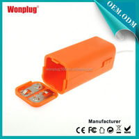 2014 newest designed top sales AA batteries power bank battery case