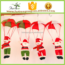 hot sale christmas decoration christmas snowman pendant parachute santa
