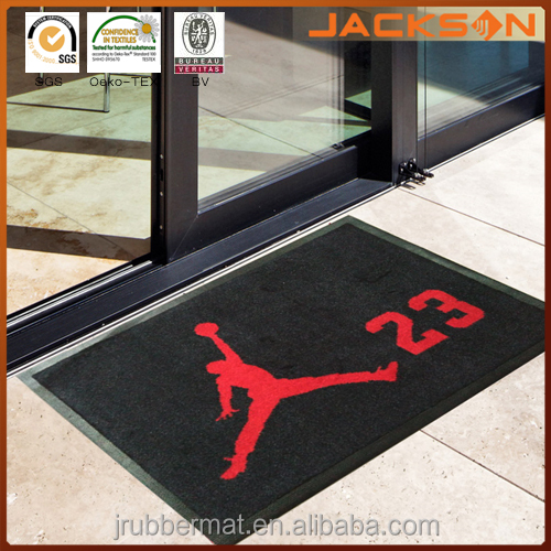 New Custom Logo Anti-Slip Car Floor Mat with Rubber Backing