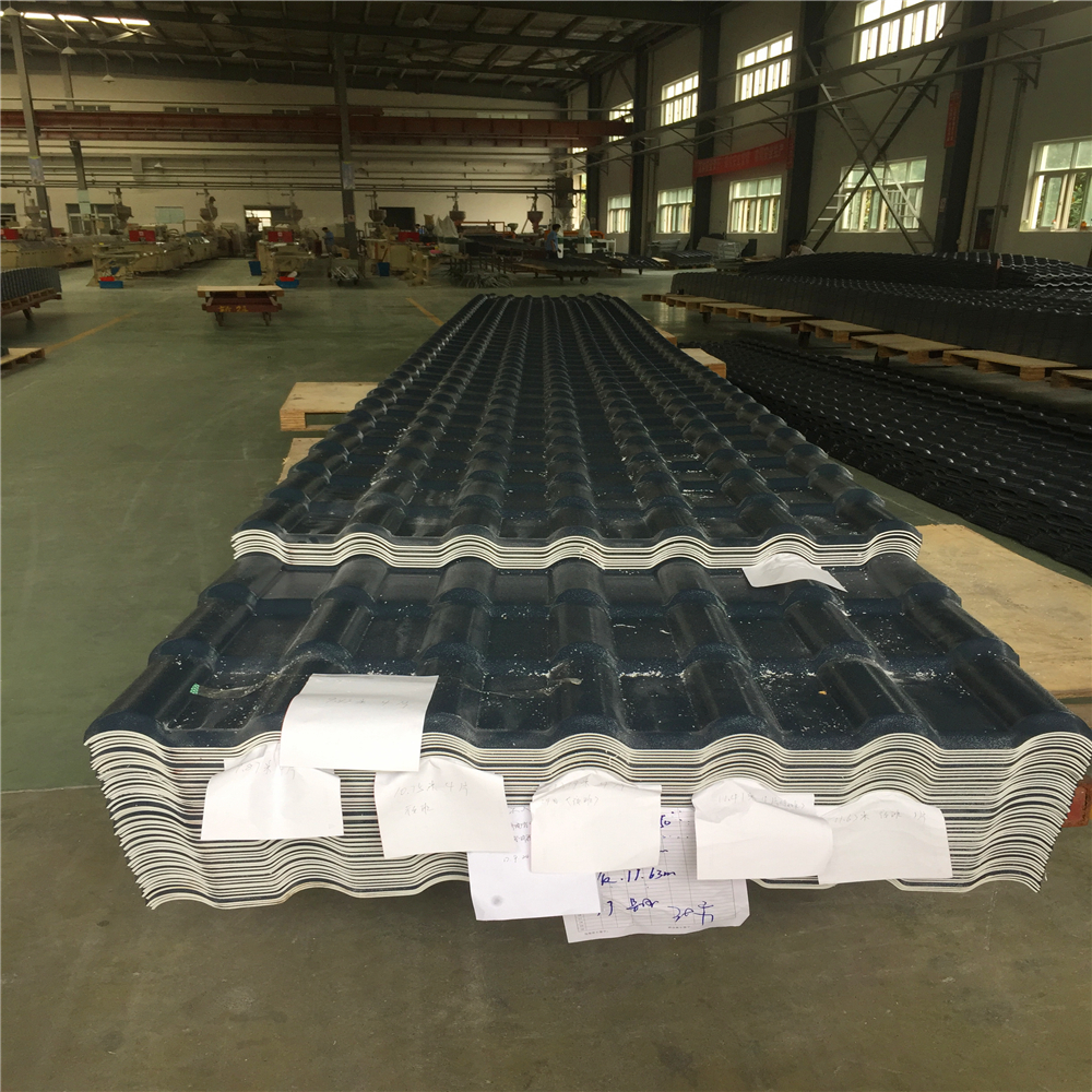 Low price Good corrosion resistance pvc roof tiles