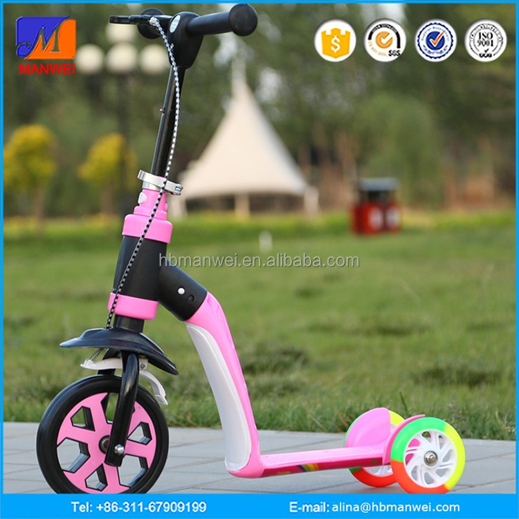 Child Age 3 wheeled Tri Scooter Adult Age big wheels kids pedal kick scooter