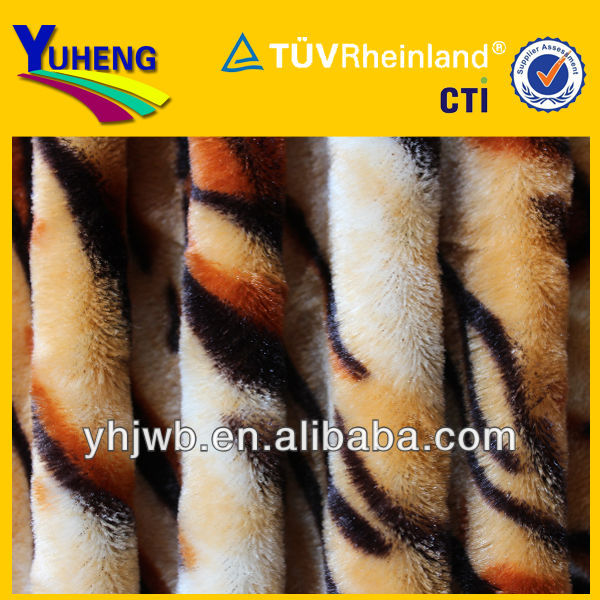 Polyester PV Plush Fabric for Animal Print
