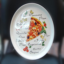 12 ceramic pizza plate,pizza warming plate,ceramic plates for pizza ovens