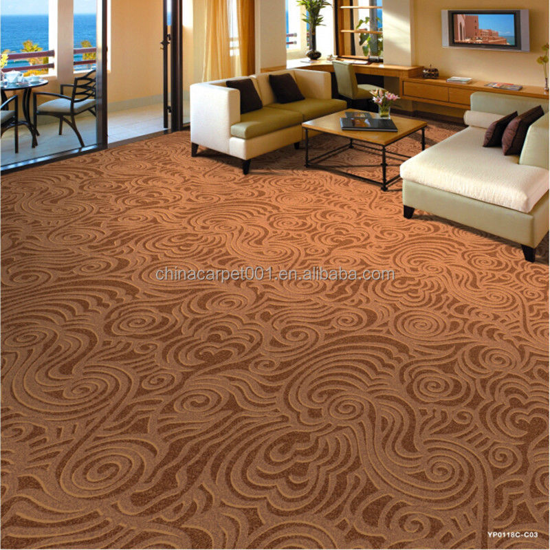 100 nylon customized design high quality printed carpet for Pattern wall to wall carpet