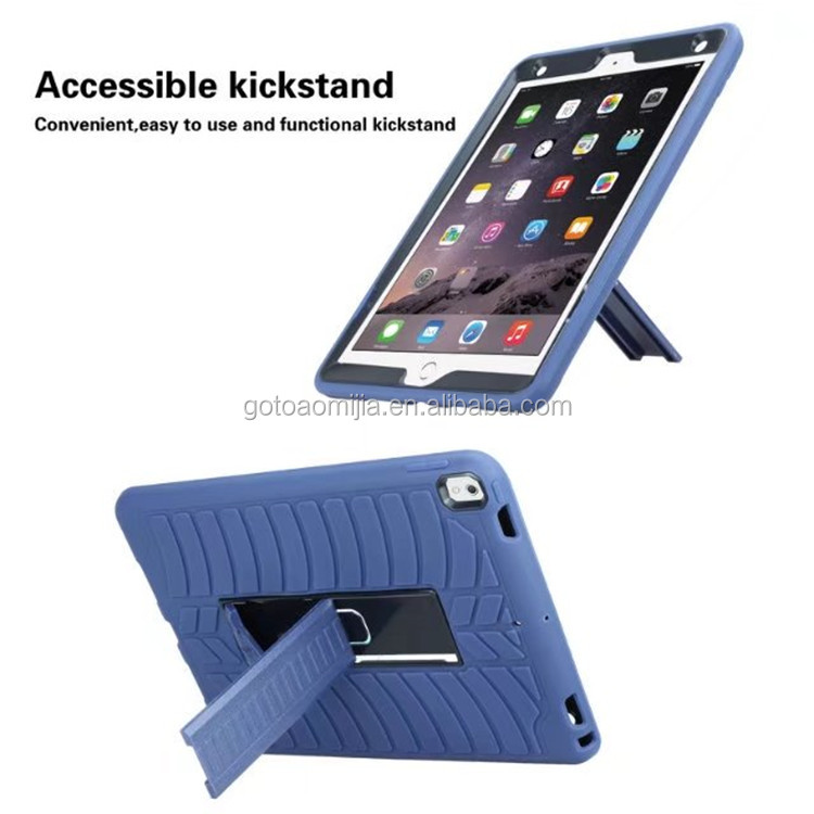 2017 Tablet computer unbreakable kickstand 3 in 1 shock proof covers Tire pattern case For iPad Pro 10.5 inch