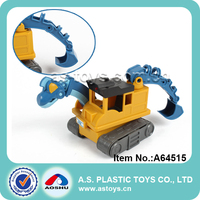 New function mini plastic dinosaur electric excavator toy with light and sounds