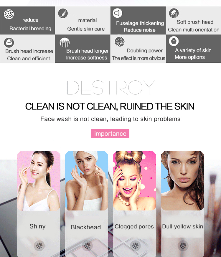 Direct Selling Electronic Face Cleansing Brush for Skin Manage