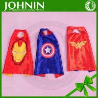 wholesale hot promotional high quality satin superhero cape