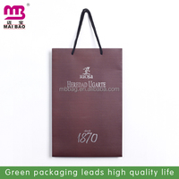 Tea packaging use custom logo printed recycled paper bag Guangzhou supplier wholesale