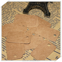 20 x33mm DIY tag 350 g kraft paper little square blank label wholesale