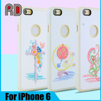 2016 New arrival Fashion High quality Cute embroidered phone cover case for iPhone 6