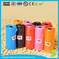 Disposable rolls with colourful printed pet garbage bags