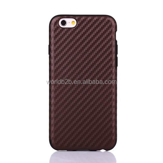 Perfect fit ultra thin TPU carbon fiber phone case for iphone6