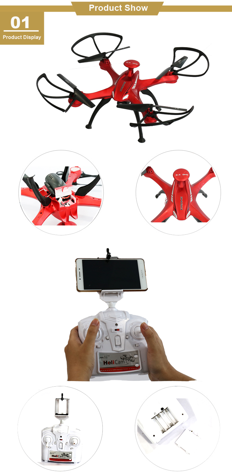 Professional juguetes toy dron quadcopter FPV wifi camera drone with hd camera for kids