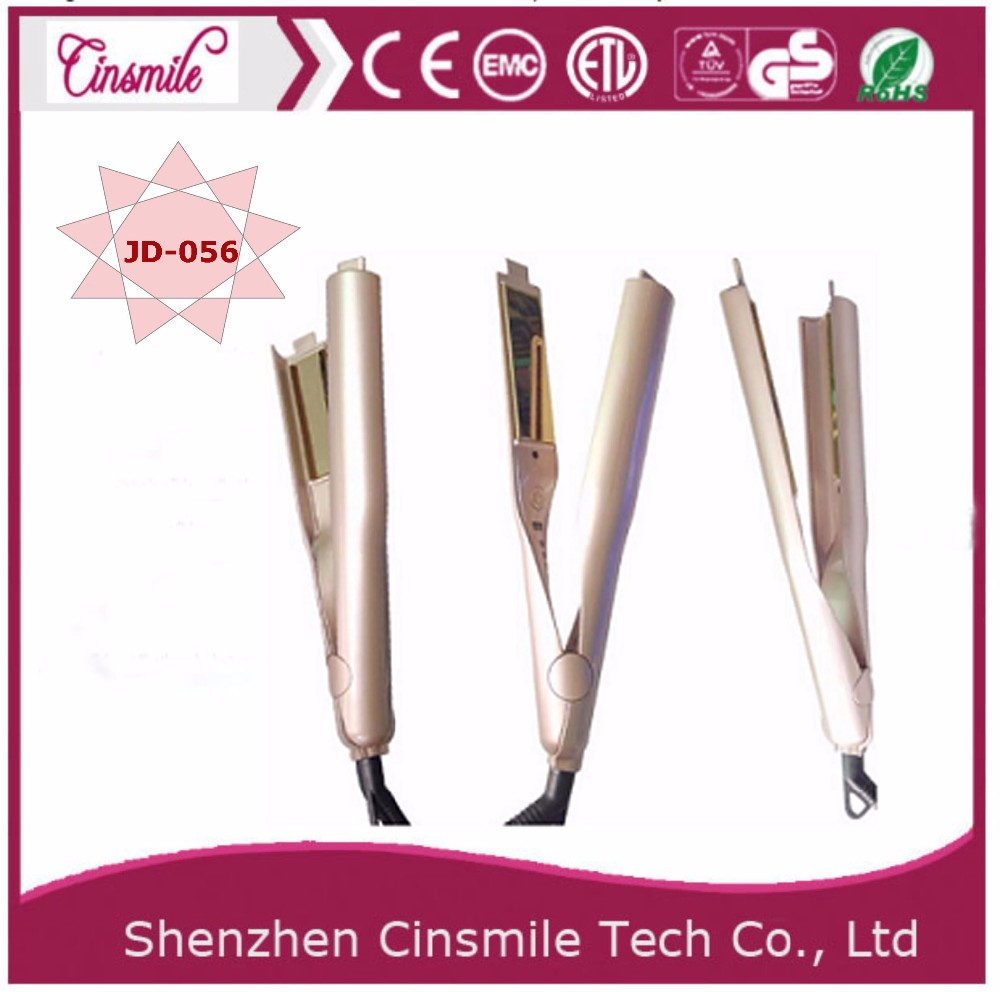 Electric hair crimping iron new style hair straightener and curling iron
