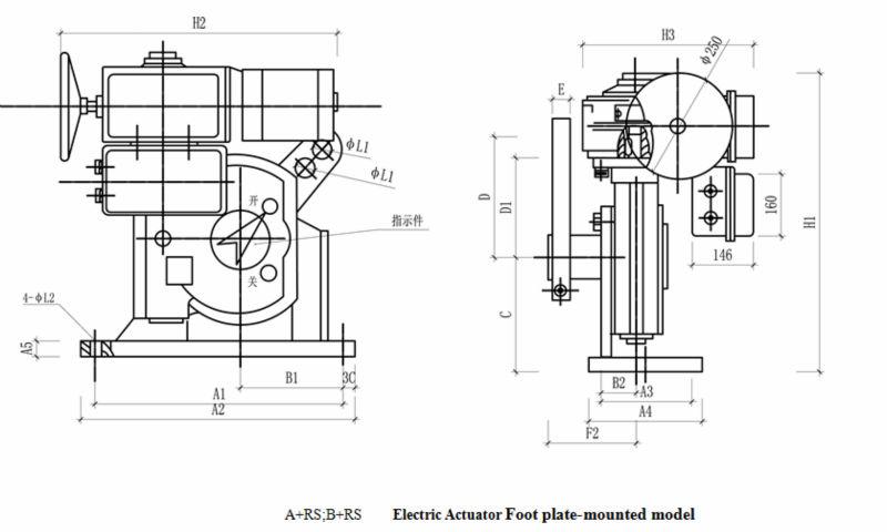 bernard electric actuator induced draft fan electric
