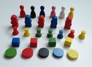 customized Wooden board game pieces game pawns - CCPS458