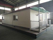 Easy assembled two slopes roof prefabricated house