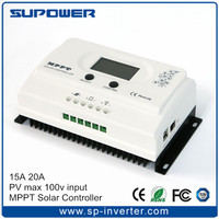 99% efficiency LCD display with double USB output 20A MPPT Solar Charge Controller Regulator