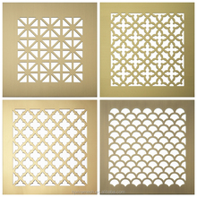 perforated metal screens and pattern, laser cut decorative panel
