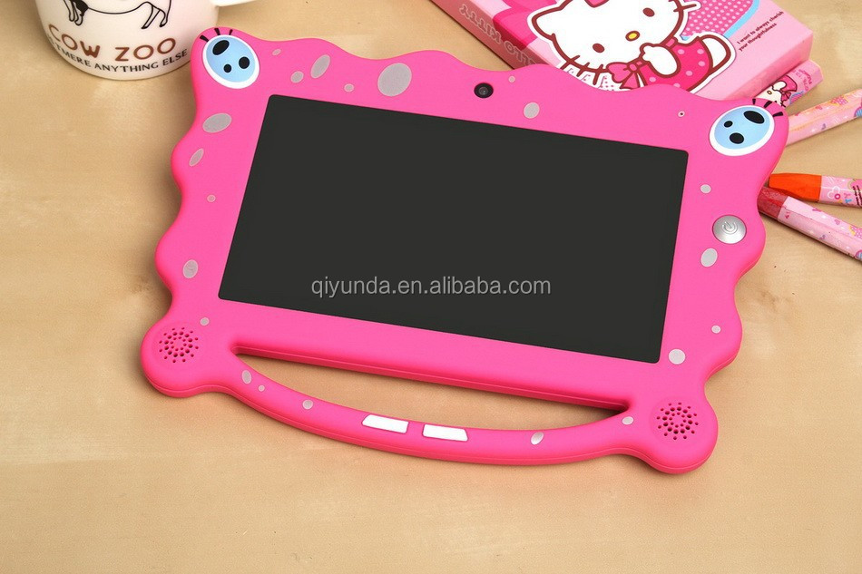 2015 Gamepad 7 inch Android 4.4, RK3026 dual core kids tablet with silicone case white box tablet alibaba china