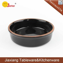 Black Glazed Ceramic buffet dishes Appetizer buffet serving dishes