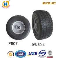 Strong Truck Tire 9x3.50-4 Polyurethane Foam Solid Wheel With Flat Tire