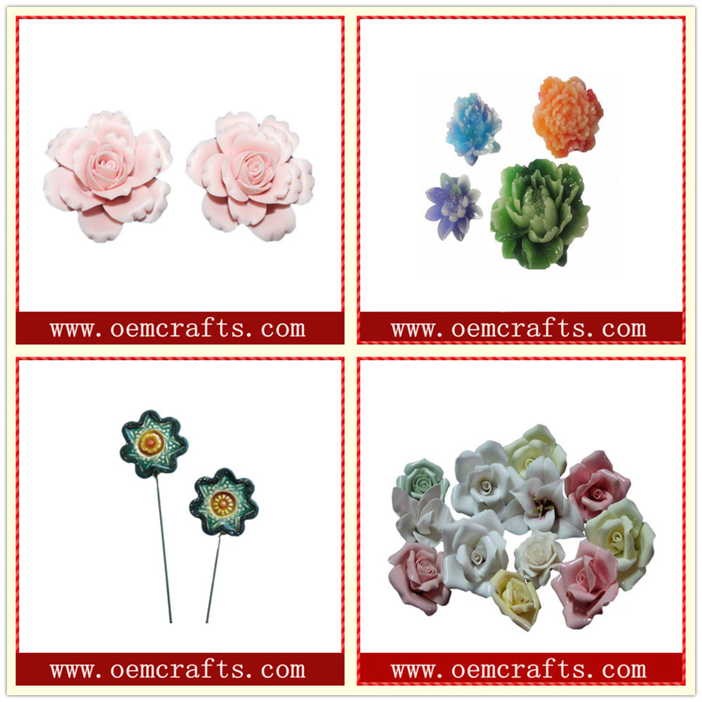 Wholesale ceramic Artificial lotus Flower for wall decoration