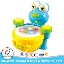 Educational forg shape plastic music toy drum set for toddlers