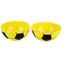 2017 colorful football shaped plastic bowl PP snack Bowl Plastic Storage Bowl