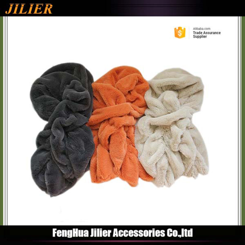 2016 Fashion Polyester Fake Fur Winter Warm Scarf for Lady Girl