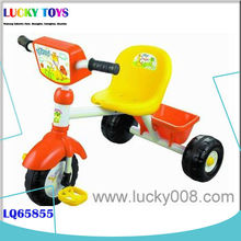 New kids tricycle with trailer wholesale child bicycle ride on car toys with light and music Shantou factory