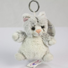 Wholesale plush animal cat key ring/ High quality stuffed animal key ring/Plush key ring toy