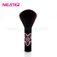 long aluminum handle sythetic hair makeup kabuki brush