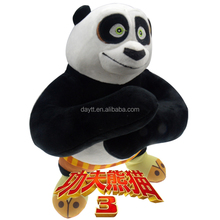 Wholesale Baby <strong>Toy</strong> 8inch cute Kung Fu Panda Standing stocklot animal bear plush soft <strong>toy</strong>