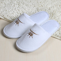 new design terry cloth and non-woven disposable pedicure slippers