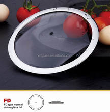 H type tempered glass lid /cooking cover for noodles pot