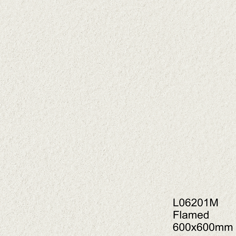 Freeze Proof and Frost Agaist 600X600 Unglazed Tiles White Color for Exterior Walls