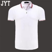 2018 Brand polo shirt men fashion short sleeve solid color polo casual slim fit mens polos white