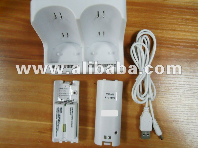 USB twin Remote charger stand for wii console