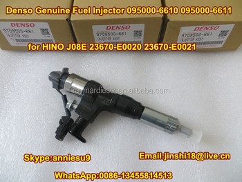 Denso Common Rail Injector 095000-6610, 095000-6611 for HINO J08E 23670-E0020, 23670-E0021