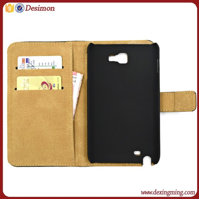 High Quality Wallet Leather Back Flip Cover for Samsung Galaxy Note Gt-n7000 i9220 Case