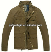 Fashion 100% Cotton Men Jacket Chaqueta