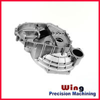 custom auto a/c aluminum pipe fitting aluminium die casting products