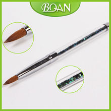 BQAN Professional Acrylic Nail Brushes Pure Sable Glitter Handle for Acrylic Nails