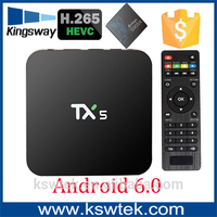 Free shipping kodi 16.1 amlogic s905x tx5 jalva tv box